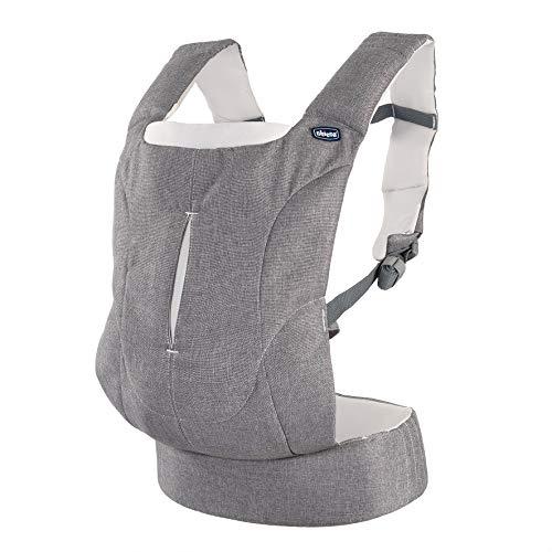 Chicco Easy Fit - Mochila ergonómica portabebé, hasta 9 kg, color gris vaquero (Denim Stripes)