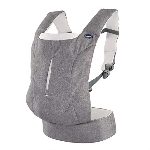 Chicco Easy Fit - Mochila ergonómica portabebé, hasta 9 kg, color gris vaquero (Denim Stripes)