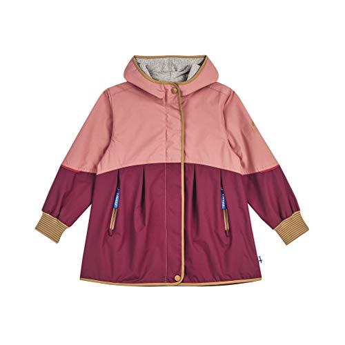 Finkid Girls Aina Move Colorblock-Pink-Rot, Mädchen Regenjacke, Größe 130-140 - Farbe Rose - Cinnamon