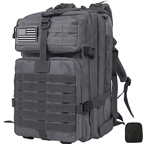 Leaper Military Tactical Backpacks 3 Day Assault Pack Hiking Backpack 42L Gray