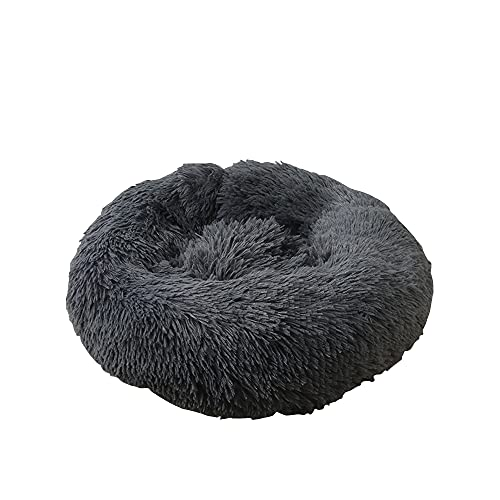 GKYI Cama para mascotas lavable 40/50/60/70/80/100/120 cm hogar mullido perros gatos cojín redondo mantener caliente Pet Pad para el hogar Pet Store
