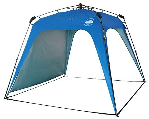 Lumaland Outdoor Pop Up Pavillon Gartenzelt Camping Partyzelt Zelt robust wasserdicht Blau