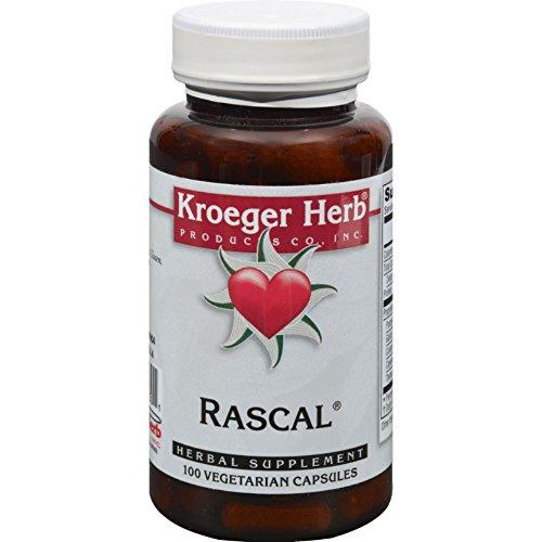 Kroeger Herb Rascal - Herbal Supplement - 100 Vegetarian Capsules