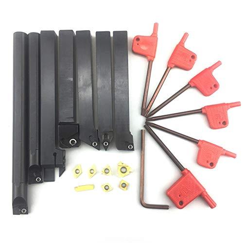 RongDuosi 7PCS 12mm Schacht draaibank Boring Bar Turning Tool Holder Set Carbide Inserts Moersleutel Decoratie gereedschap elektrisch gereedschap set