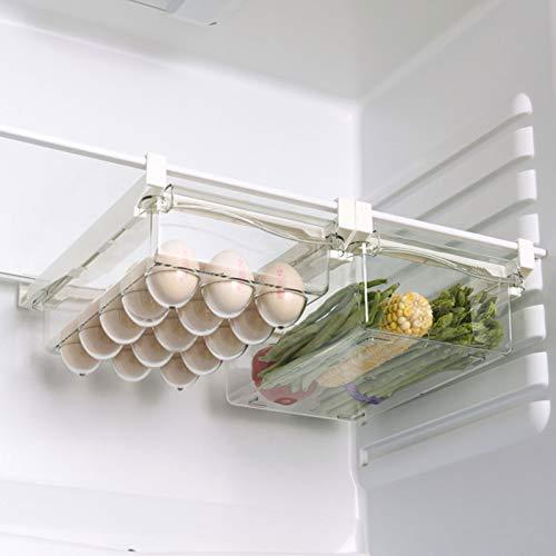 Soporte para Huevos para Refrigerador, Contenedor de Almacenamiento de Huevos Extraíble de Diseño único, Bandeja para Huevos Portátil, Solo para Instalación de Partición de Refrigerador
