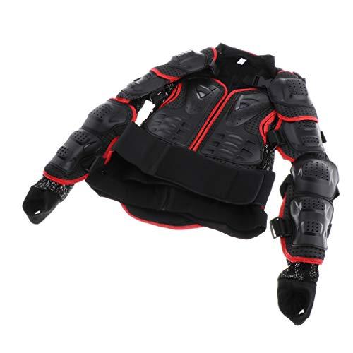 Gazechimp Veste De Moto en Maille, Maillot De Protection pour Motocross ATV Guard Armor Protector pour Femmes - (S/M/L/XL/XXL/XXXL) - comme décrit, Noir + Rouge XXXL