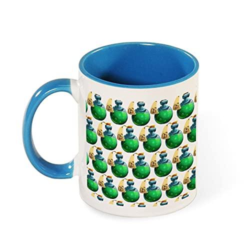 Danger Poison Skull Chemical Potion Fantasy Art - Taza con color interior y mango, 330 ml, taza de cerámica digital suave de porcelana, regalo de salud para familia, día del padre, madre amigas