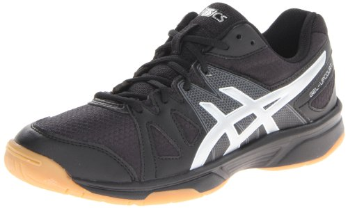 ASICS Women's Gel Upcourt Volleyball Shoe,Black/Silver,7 M US