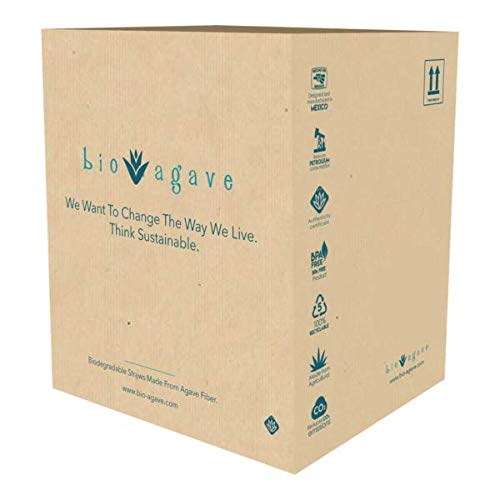 BIO AGAVE - 3,600 Pack UNWRAPPED 5.9' Cocktail Straws Made From Agave Fibers Approved Bio Preferred,...