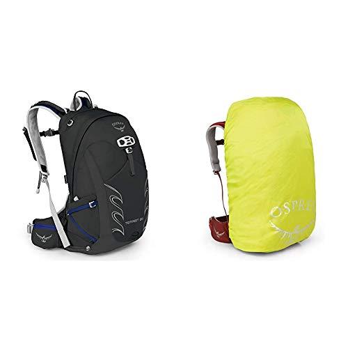 Osprey Tempest 20 Women's Hiking Pack - Black (WS/WM) & Ultralight High Vis Raincover for 10 - 20L Packs (XS)