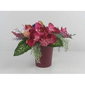Blumendekoration Orchidee Holiday künstliche Blumen Tischgesteck Blumengesteck Seidenblumen Blumendekoration Muttertag…