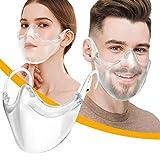 Adulti Trasparente Riutilizzabile e Lavabile, Face Cover Trasparente per Uomo Donna Sordomuto (1PCS A)