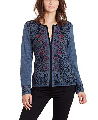 Invisible World Women's Alpaca Sweater Embroidered...