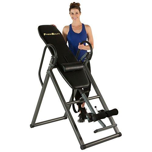 FITNESS REALITY 690XL Inversionstisch mit Rückenkissen, verstellbar bis 1,98m Körpergrösse, 136kg maximales Benutzergewicht, volle vertikale Inversion bis 180 Grad