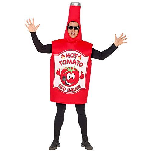 WIDMANN 02600adultos Disfraz Botella Ketchup Heinz, unisex?Adultos, color rojo