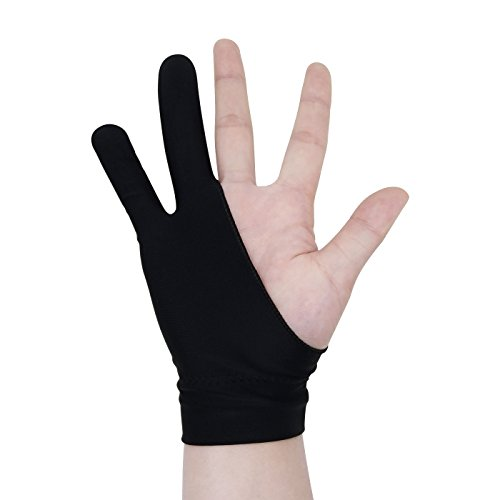 Newkeen 1 Pièces Artiste Gant pour Tablette Graphique Glove, Noir (Women)