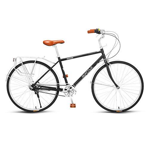 Bicicleta, Bicicletas para Viajeros de 26 Pulgadas, Bicicleta Retro, Marco de Acero con Alto Contenido de Carbono, TransmisióN Interior de Cinco Velocidades, para Trabajadores de Oficina /