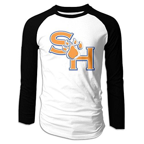 Loyra Men's Baseball Long Sleeve Raglan Sam Houston State University Tshirt XXL Black