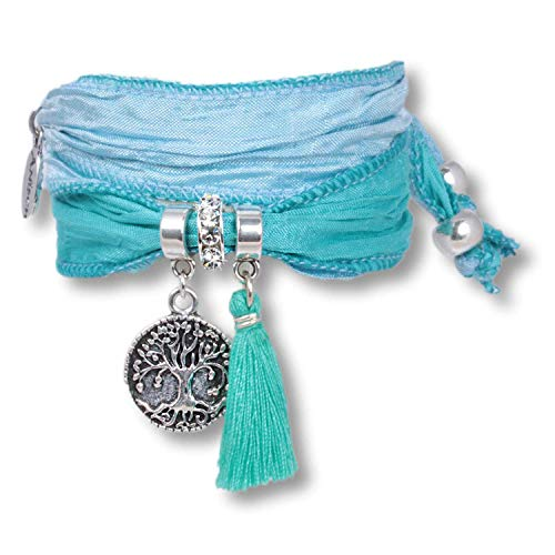 Anisch de la Cara Mujeres Pulsera Ice Blue - Arbol de la Vida símbolo de Saris Tree of Life - Arte no 2223-h