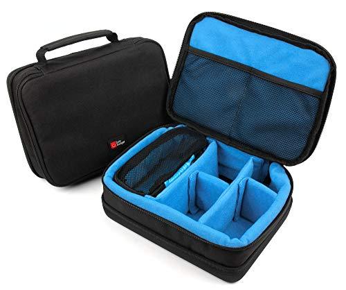 DURAGADGET Bolsa Acolchada Profesional Negra con Compartimentos para Videocámara Contour Roam 3 | Ion Air Pro 3 | Tomtom Bandit | Vivitar DVR908MFD | Netgear Arlo VMC3030