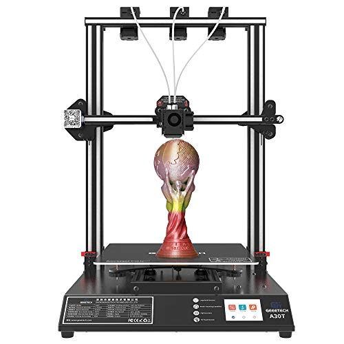 Geeetech A30T 3-in-1-out auto leveling mix color 3d printer mix-color 320*320*420mm³ print area with Filament Fetector FDM