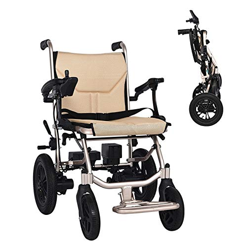 L-LIPENG Wheelchair,Folding Lightweight Electric Wheelchair,150w Dual Motor,Large Capacity Lithium Battery (12a),Portable Transit Travel for Disabled and Elderly Mobility,Up to 25 Km Range