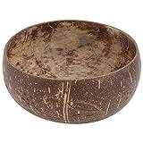 JWDS Tazón de coco 1 cuenco para el hogar, cáscara de coco, cuenco de vajilla de postre y frutas, ensalada de arroz, reciclable y degradable