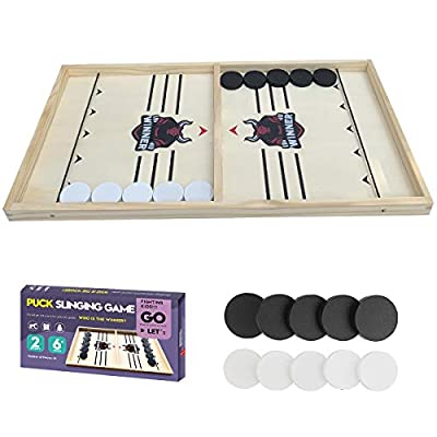 Fast Sling Puck Game Paced, Table Desktop Battle,Winner Board Chess Games Toys for Adults Kids Foosball Slingshot Game Board Table Game (21.5in×11.4in)