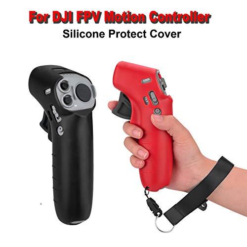DJFEI FPV Combo Drone Fernbedienung Schutzhülle mit Lanyard, Silikon Schutzhülle Staubdichte Abdeckung Fall Haut Fernbedienungsschutz mit Halsband Lanyard für DJI FPV Combo Drone (D)