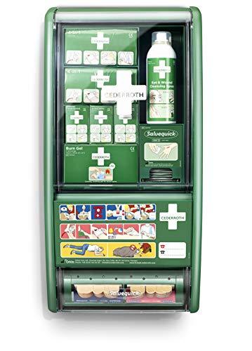 Cederroth   Estación de primeros auxilios   Completa y conveniente estación de primeros auxilios para tratar muchos tipos de lesiones distintas