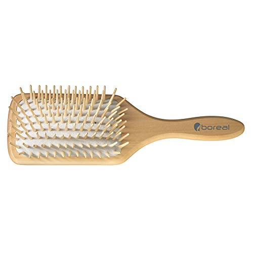 Natürliche pneumatisch holz Haarbürste. Natural hair Brush giant model, cushion rubber, antistatic.