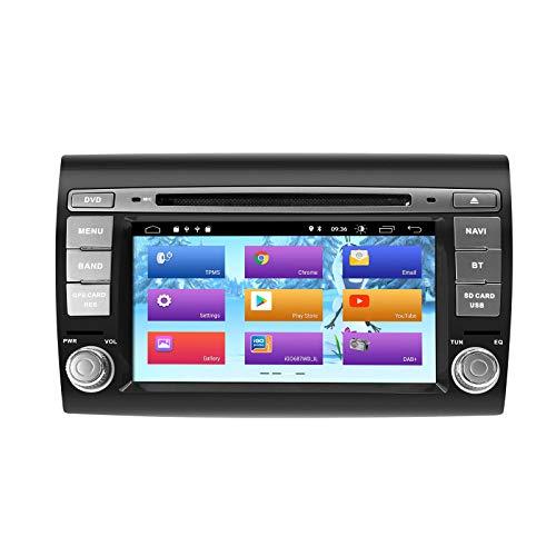ZLTOOPAI Android 9.0 Autoradio per Fiat Bravo 2007-2012 Car Stereo Lettore DVD GPS con uscita RCA completa Wifi OBD SWC