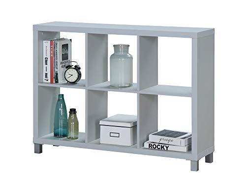 "Kit Closet Estantería ""Kubox"" 6 huecos gris"