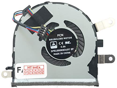 (CPU Version) Lüfter Kühler Fan Cooler kompatibel für Asus ZenBook UX510UW-CN051T, UX510UW-CN048T, UX510UX-CN014T, UX510UX-CN216T, UX510UX-CN044T