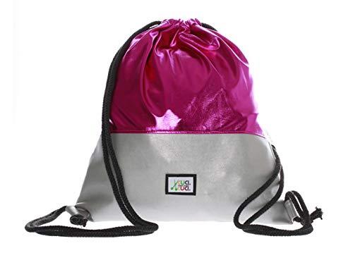 CuciCuci Turnbeutel zum selber Nähen DIY Nähvorlage Nähset Schnittmuster Geschenkidee Sportbeutel Sportsack Sipi Silber Pink