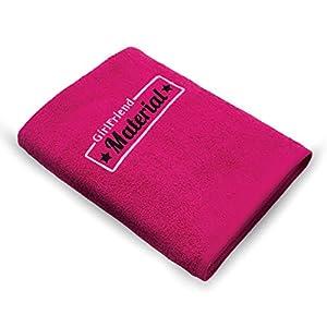 Handtuch Bestickt 50x100cm / die Geschenkidee - GIRLFRIENDMATERIAL - 100% Baumwolle / HISA DARIL® (Beere)