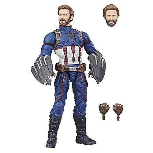 Marvel Legends Series Saga do Infinito Design Especial, Figura de 15 cm - Capitão América - F0185 - Hasbro