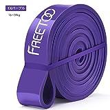 FREETOO フィットネスチューブ エクササイズバンド トレーニングチューブ 天然ゴム 肉体改造 機器 男女兼用 筋力トレーニング リンフティグ筋肉 パープル 負荷16~39kg [並行輸入品]