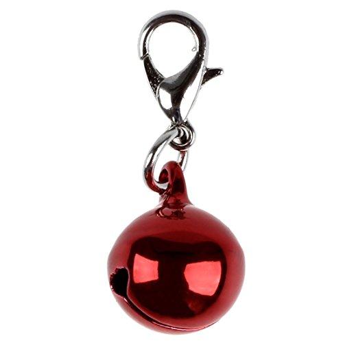 TOOGOO(R) Cascabeles Pendiente de campana para collar de gato perro Mochila de lona