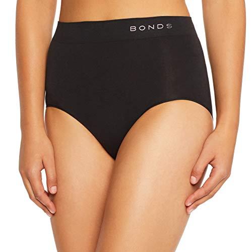 Bonds Women's Cotton Rich Comfytails Side Seamfree Black
