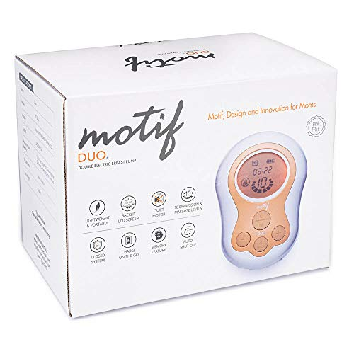 Motif Medical, Duo, Portable Double Electric Breast Pump, Easy, On-The-Go...