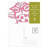 鳥類保護動物のペットの恋人の漫画の眼鏡 詩のポストカードセットサンクスカード郵送側20個