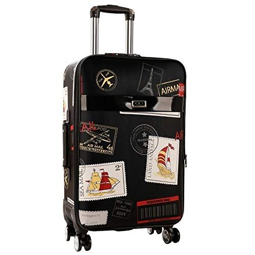 Bagageset, retro wachtwoordbox, trolley, grote capaciteitskoffer, wielen, reistassen, rolbagage 26 EU 1