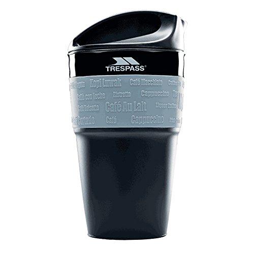 Trespass  Kaffeebecher Pop Faltbarer, Black, One Size, UUACMIM30038_BLKEACH
