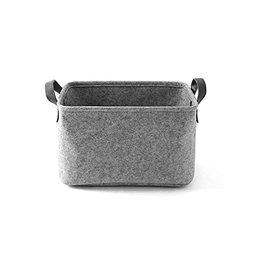 Vilt Mand opbergdoos met handvat, Duurzaam Opvouwbaar Storage Bin Basket wasmand Toy Storage Organizer Bins Home Decorations (Large, Zwart) aijia (Color : Grey, Size : Large)