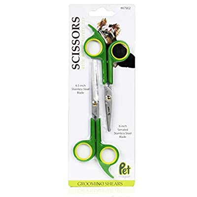 Pet Grooming Scissors (Pack of 2) Made of Japanese Stainless Steel, Lightweight, Strong and Durable.