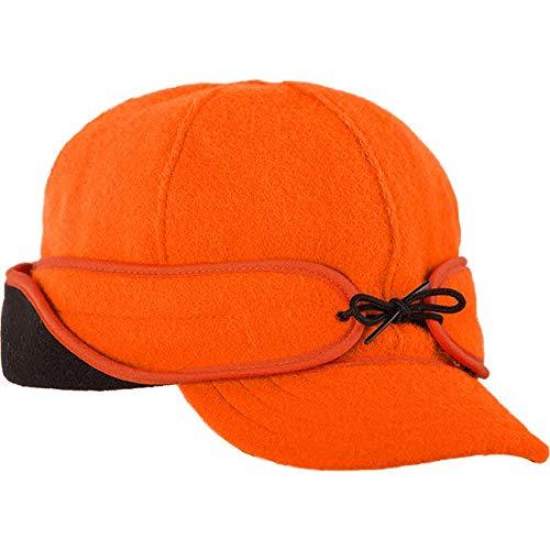 Stormy Kromer Rancher Cap - Winter Thinsulate Wool Hat with Fleece Earflap Blaze Orange