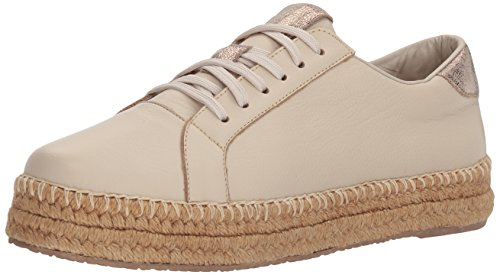 KAANAS Damen Arizona Leather Espadrille Sneaker Turnschuh, cremefarben, 42 EU