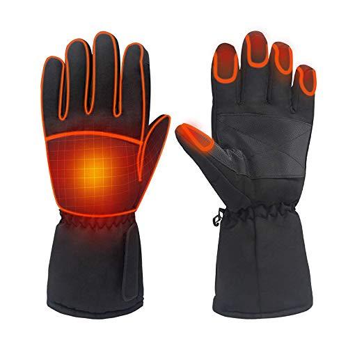 Babody 1 unids termostato caliente guantes de batería eléctrica calentados guantes invierno electrotérmicos guantes motor motocicleta accesorios