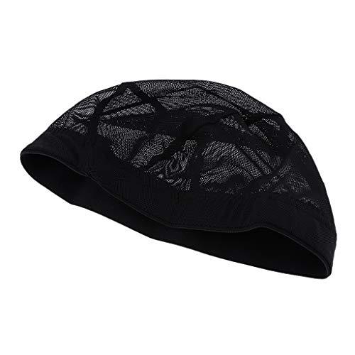Homyl Filet De Tissage Reglable Perruque De Chapeau Perruque Faisant Le Bonnet De Tissage Elastique Cheveux Net Noir - #1
